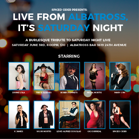 Live from Albatross, It's Saturday Night!