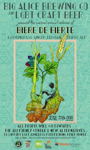"""Beer Release Party at The Bonnie: Big aLICe's """"Bière de Fierté"""""""