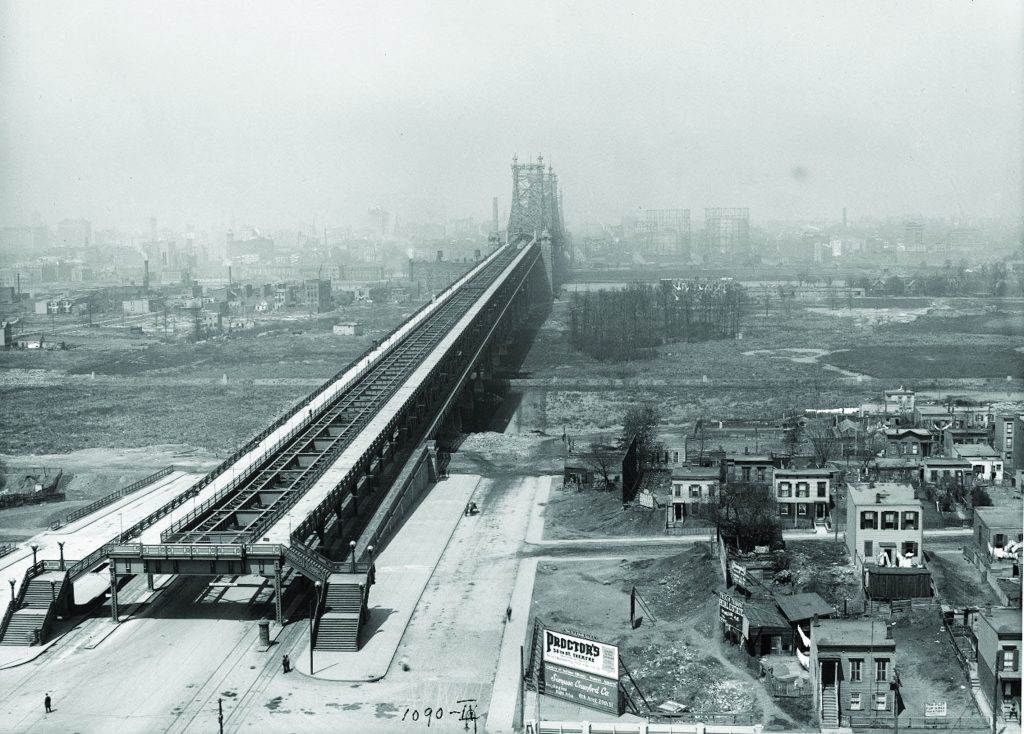 Photo/Queens Historical Society The Queensboro Bridge photographed in 1912 from Queens Plaza looking west into Manhattan.
